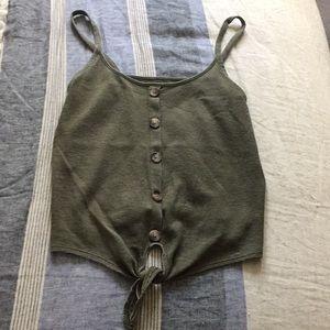 Tie bottom tank top